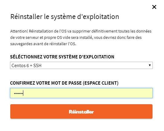 Réinstaller le système d'exploitation